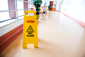 Commercial Cleaning - Wet floor sign